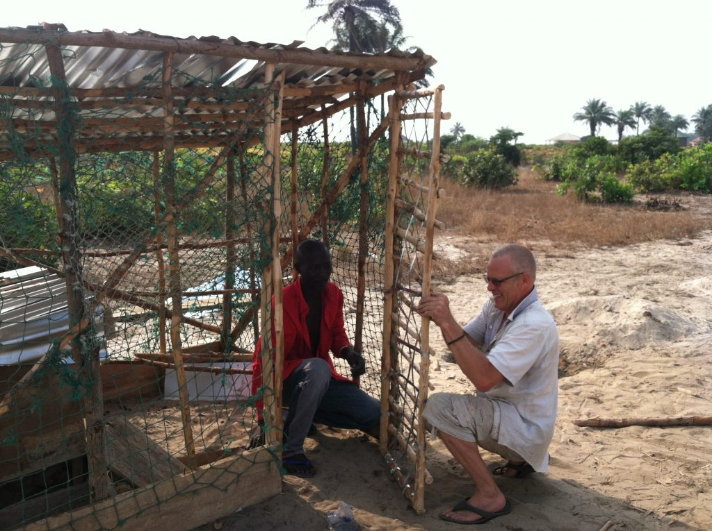 And Bradley's awesome Chicken Coop made out of scraps left over from the buildings.